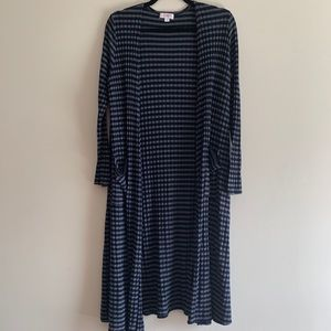 LuLaRoe Sarah duster cardigan stripped M